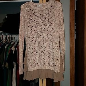 NWOT-Knox Rose Sweater with Ruffles